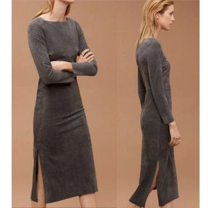 ARITZIA WILFRED FREE Abma Faux Suede Midi Dress 8